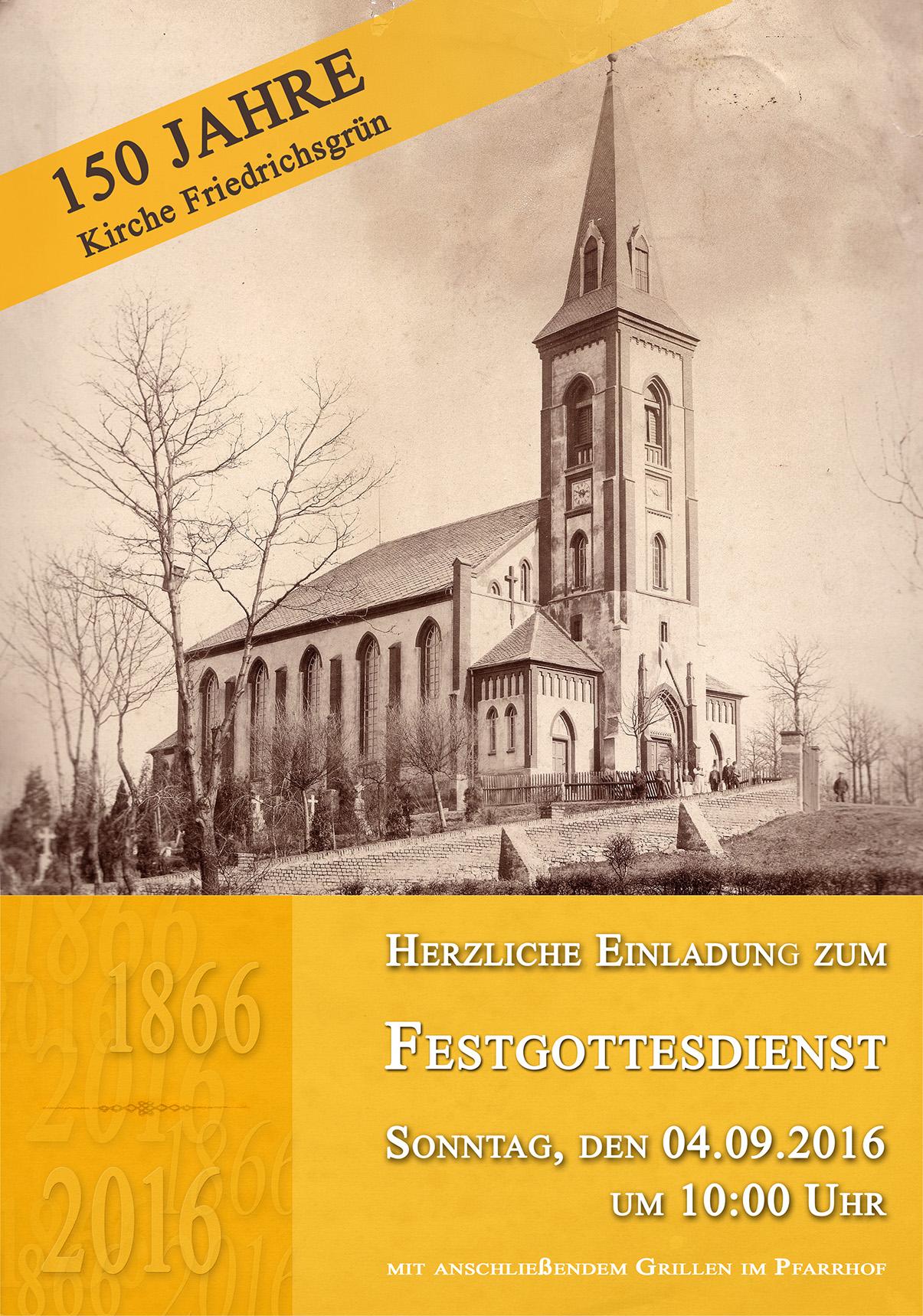 150 Jahre Kirche Friedrichsgrün