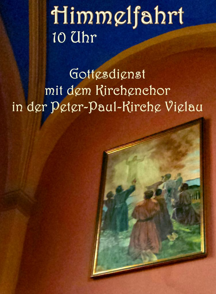 Einladung zum Gottesdienst zu Himmelfahrt